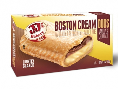 JJ's Bakery Duos Custom Packaging for Boston Cream Pies