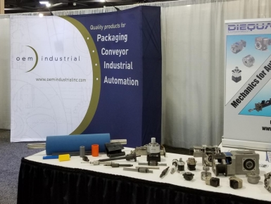 OEM packing, conveyor, industrial, automation trade show booth
