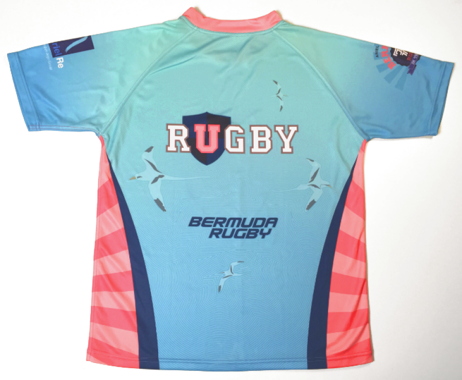 Bermuda 7s Tournament Jersey with URugby Sponsor Logo