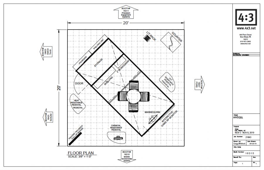 2019 SEMA floor plan