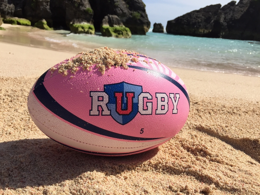 Custom Rugby Ball with URugby Sponsor Logo