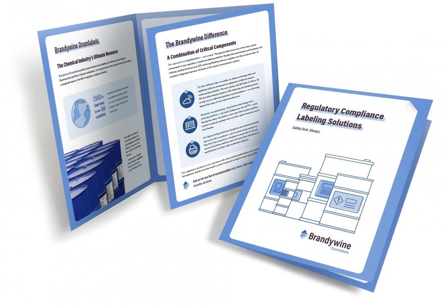 Drumlabels brochure designs