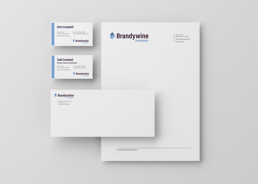 Brandywine Drumlabels Business Cards, Envelopes, Letter Heads