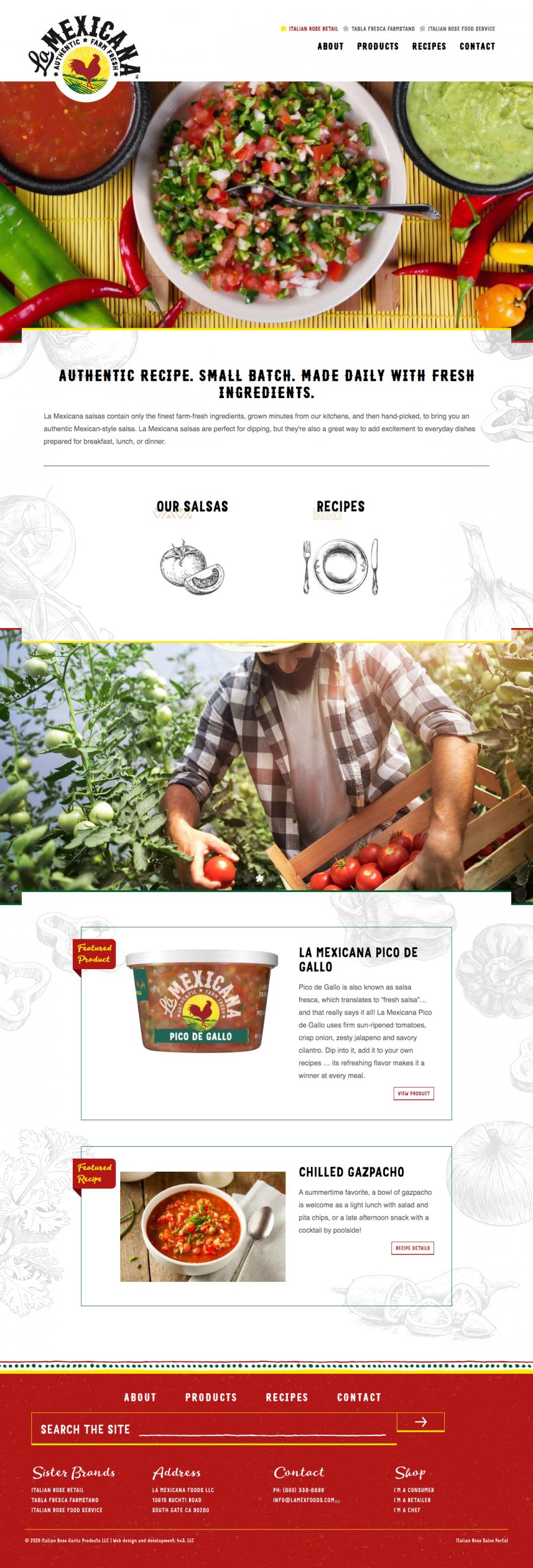 La Mexicana homepage