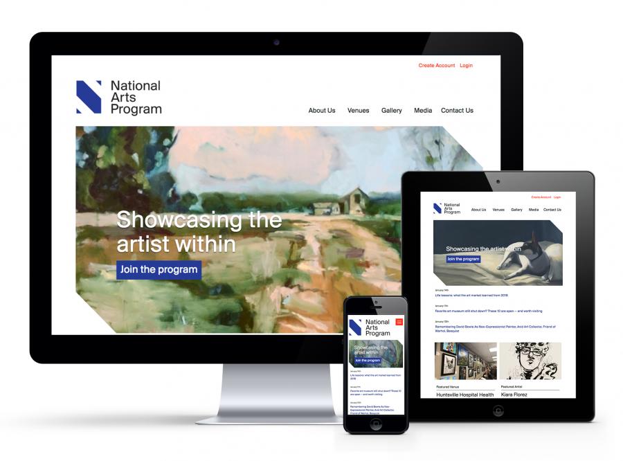 Responsive Website on Desktop, iPad, iPhone