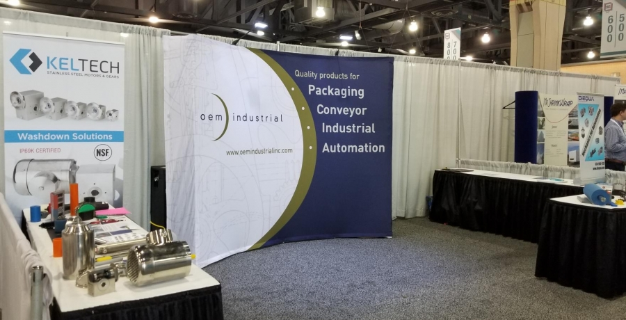 OEM booth next to Keltech and Diequa