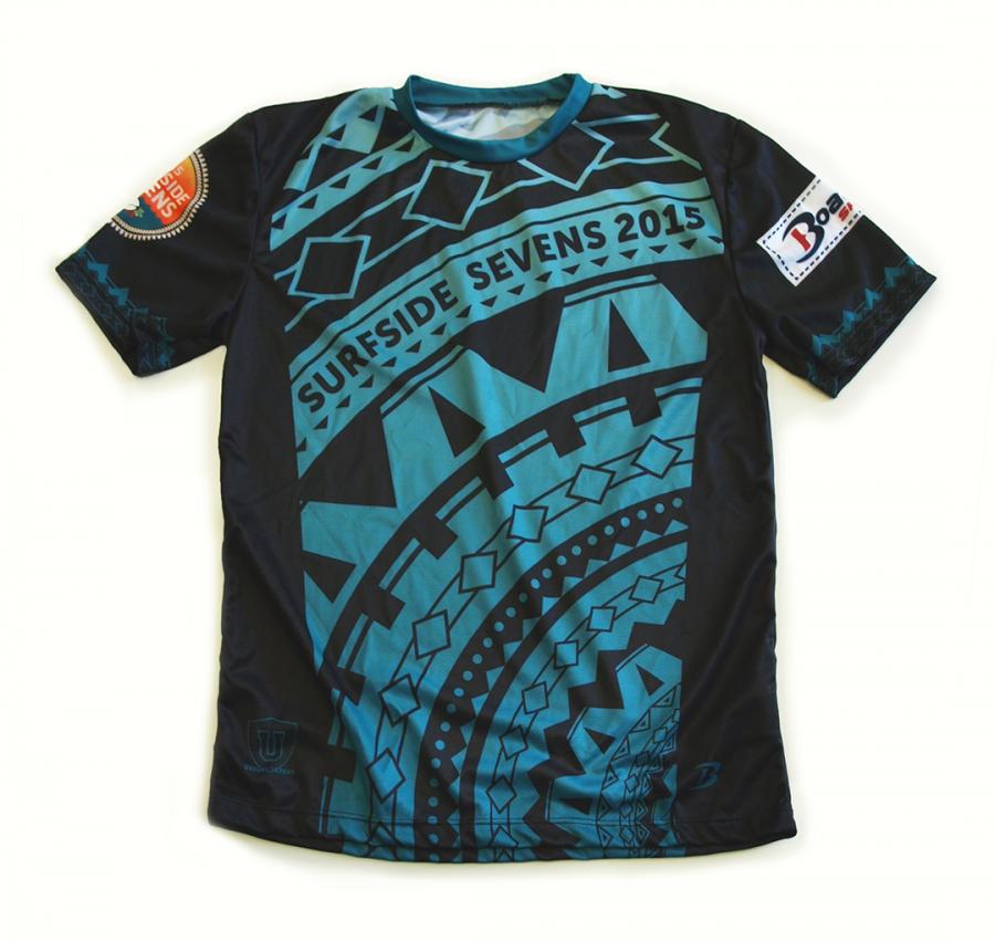 Surfside Sevens custom print design for promotional items