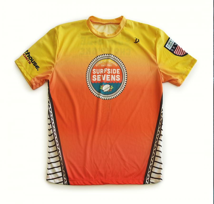 Surfside Sevens custom print design for team jerseys