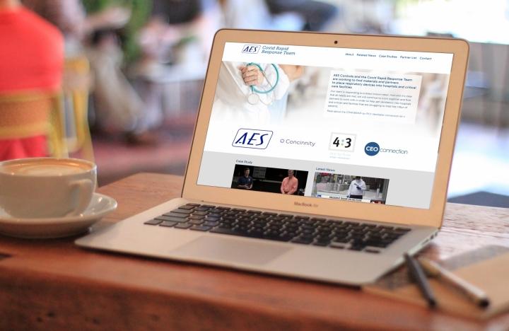 CRRT website on laptop
