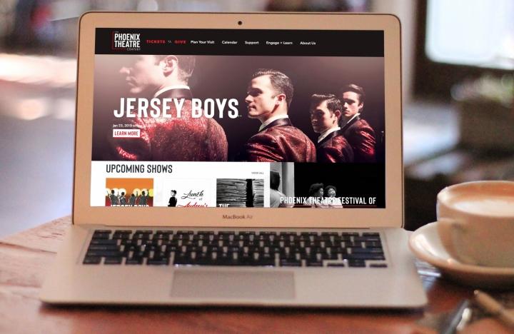 Phoenix Theatre Fully Responsive Website on MacBook